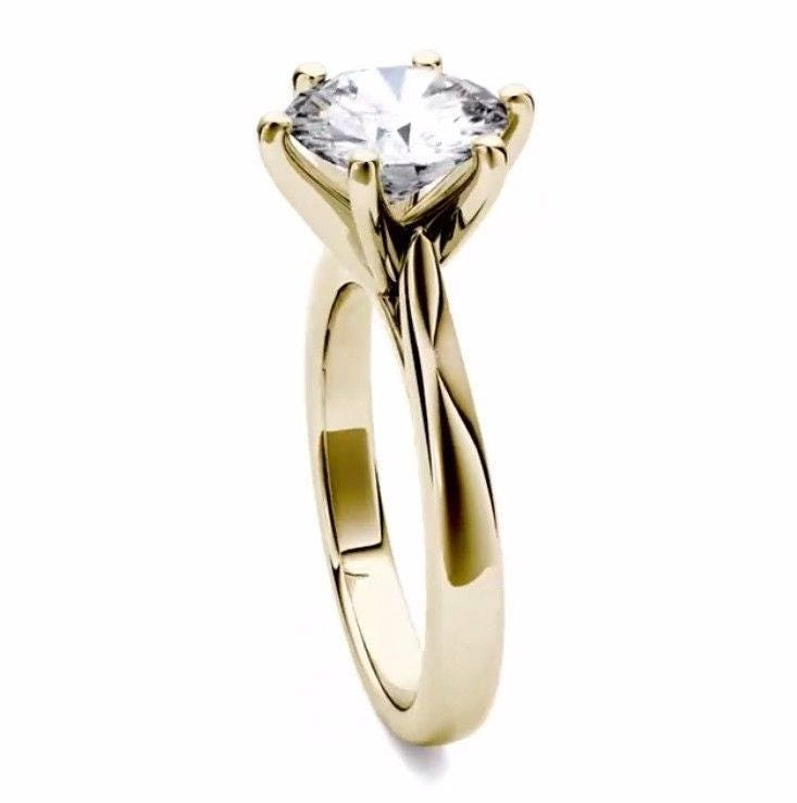 Prey Wedding Ring.Forever One Moissanite Classic Solitaire Engagement Ring