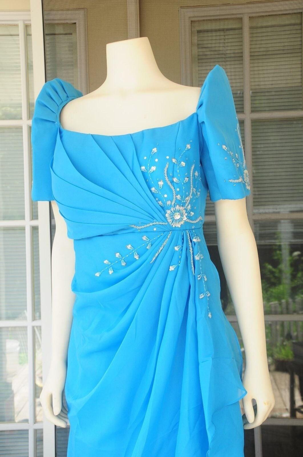 Filipiniana Made To Order Ruched Terno Attire Mestiza Dress Philippine Filipino Traditional