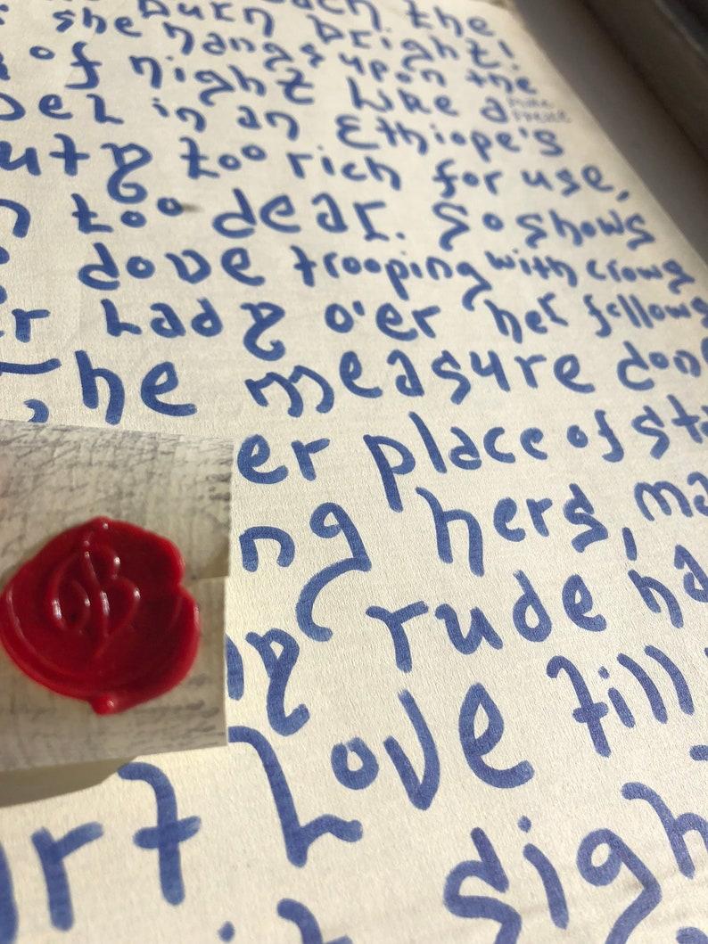 d008e41aa Romeo & Juliet Calligraphy//Act 1 Scene 5 Shakespeare | Etsy