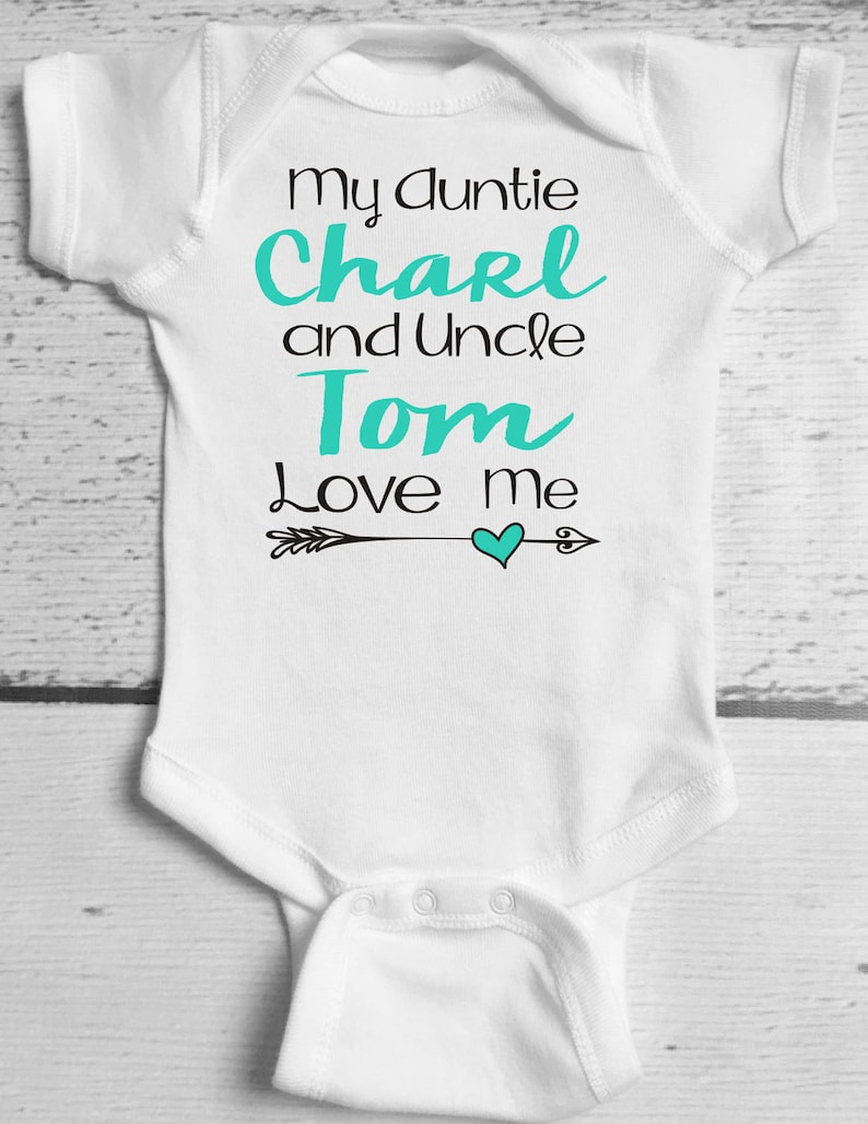 2dec88daa My Aunt and Uncle Love Me Baby Bodysuit / Aunt and Uncle Baby | Etsy