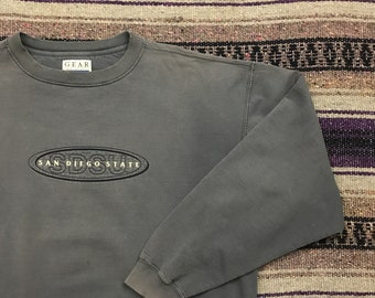 University Of California Berkeley Bold Script Mens Cal Crew Neck Sweatshirt Navy