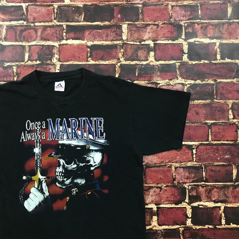ba43add5 Vintage USMC Shirt US Marine Graphic Tee Marine Corps Mens | Etsy