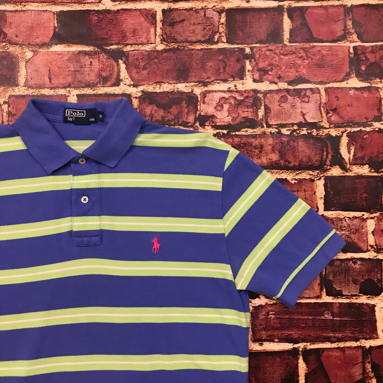 Vintage Polo Ralph Lauren rayé chemise des années Fresh 90 Fresh années  Prince Polo Chemise Preppy 5713a69b72c4