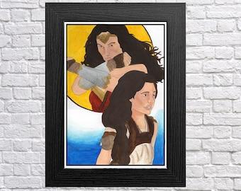Wonder Woman painted art print