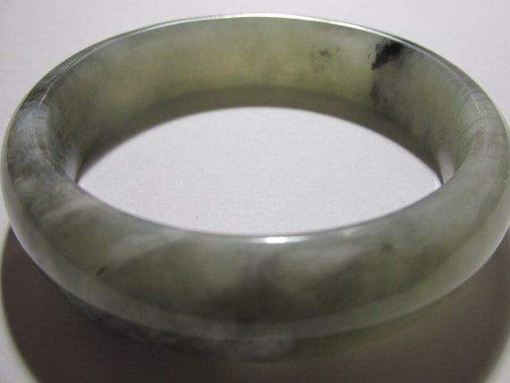 58mm  Burgandy Deep Red Xiu Yu Jade Bangle Bracelet #149 248.5 Ct Purity