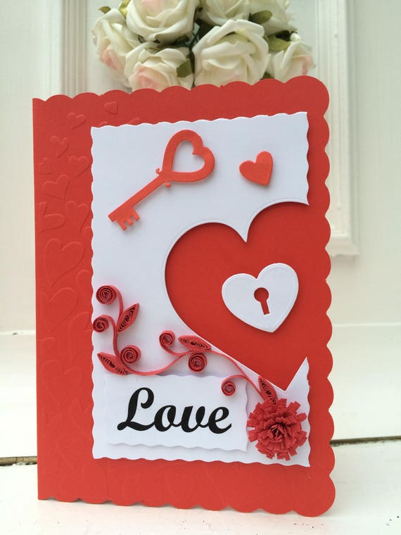 Valentines Day Quilling Cards Etsy