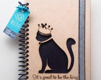 Carnet de chat noir, chat noir, noir journal, journal de chat, carnet brodé, les amoureux des chats, carnet de chat mignon, planificateur de chat, agenda, fourrure