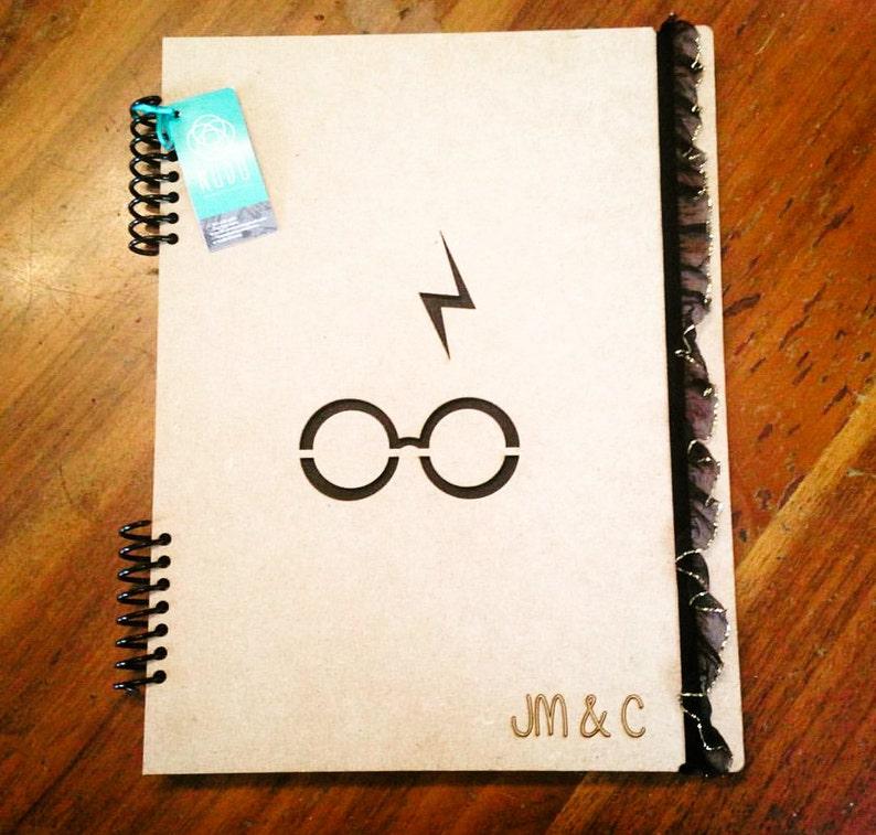 Harry Potter Notebook Sketchbook Journal Handmade Laser Cut Libreta Gift Writing Journal Spiral Notebook Custom Personalized
