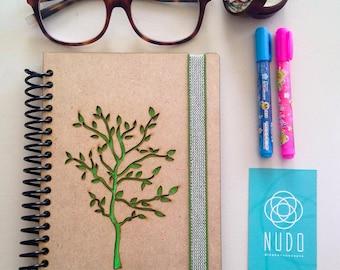 Tree notebook, tree journal, Sketchbook, Writing journal, spiral notebook, diary, sketchbook, scrapbook memory book, notebook, draw, writing