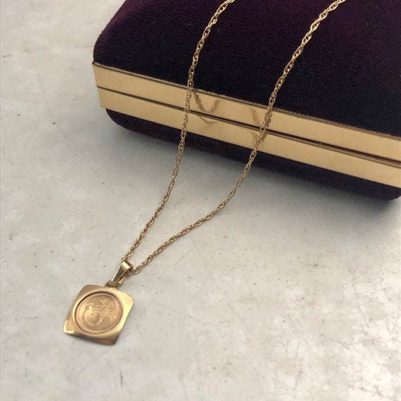 Scorpio 10k Yellow Gold Charm Necklace