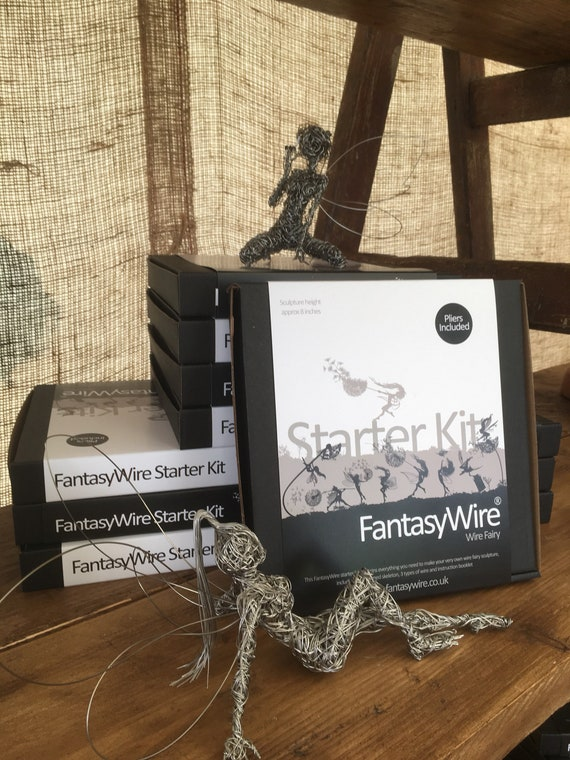 "Wire Fairy 8"" Starter kit  - Everything you need to make your own fairy wire sculpture"
