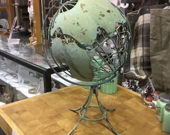 Green world globe