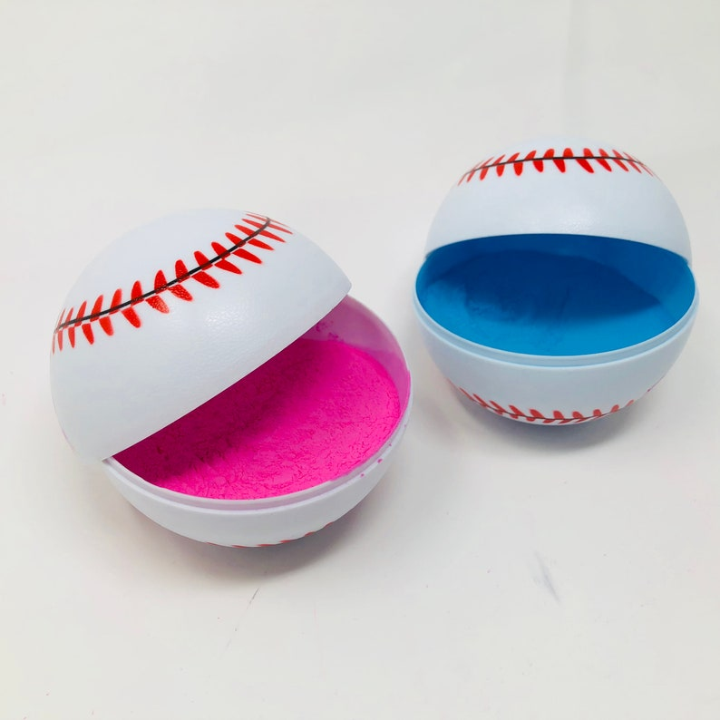 Gender Reveal Baseballs Pink and Blue  58ba31ce3