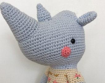 Crochet rhino, crochet rhinoceros, amigurumi rhino, rhino soft toy, crochet animal