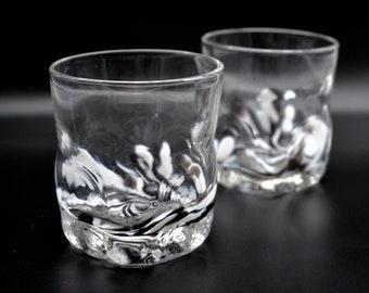 MONOCHROME rocks glass, handblown