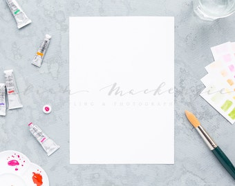 Styled Stock Photography | Watercolour | Illustration | Painting | Desktop Mockup | Instant Download JPEG