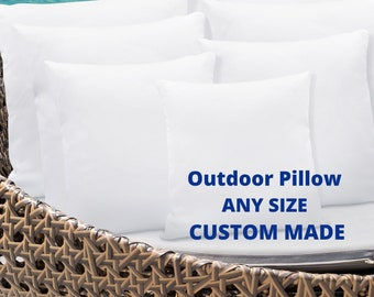 Outdoor Snow Rain Beach  Water-Resistant  Anti-Mold Pillow inserts Made in USA