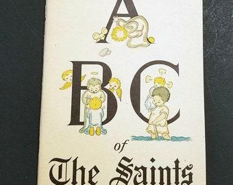 The ABC of the Saints 1940 Vintage Catholic Children's Book | Catholic Books | Catholic Children