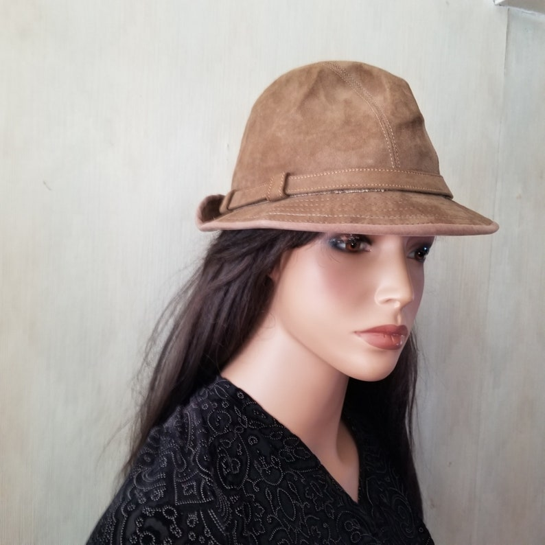 Country Gentleman Fawn Suede Fedora M/F image 0