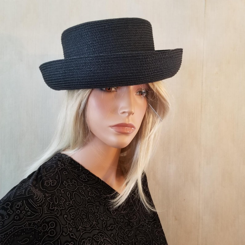 Betmar Black Bowler Hat Church Hat Wedding Hat Shul Hat image 0