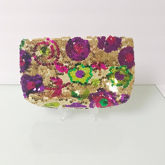 Vintage Daniele Meucci Made In Italy Sequin Color… - image 7