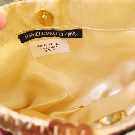 Vintage Daniele Meucci Made In Italy Sequin Color… - image 2