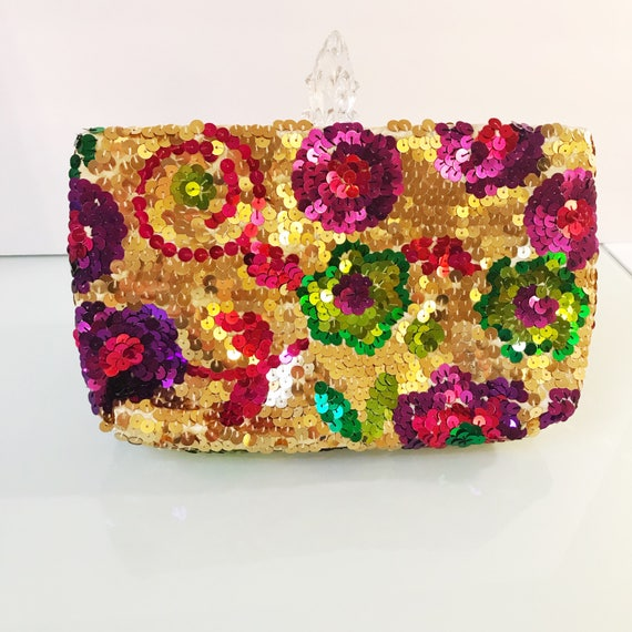 Vintage Daniele Meucci Made In Italy Sequin Color… - image 1