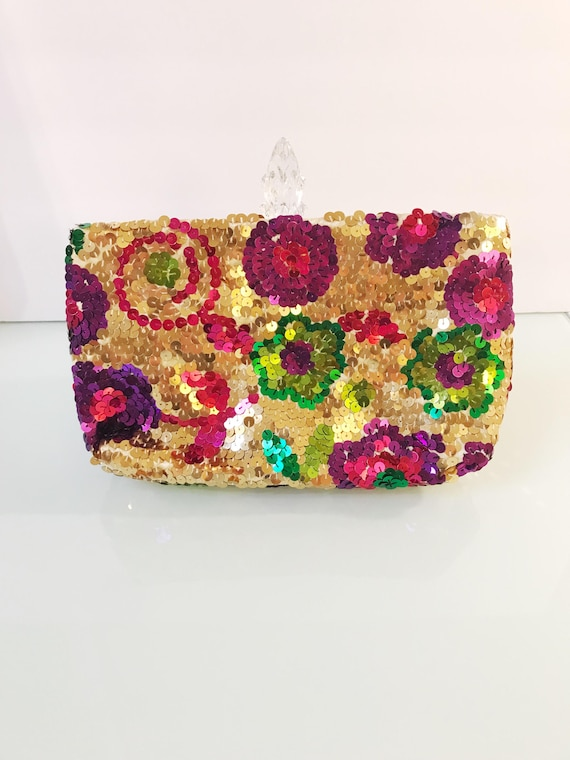 Vintage Daniele Meucci Made In Italy Sequin Color… - image 3
