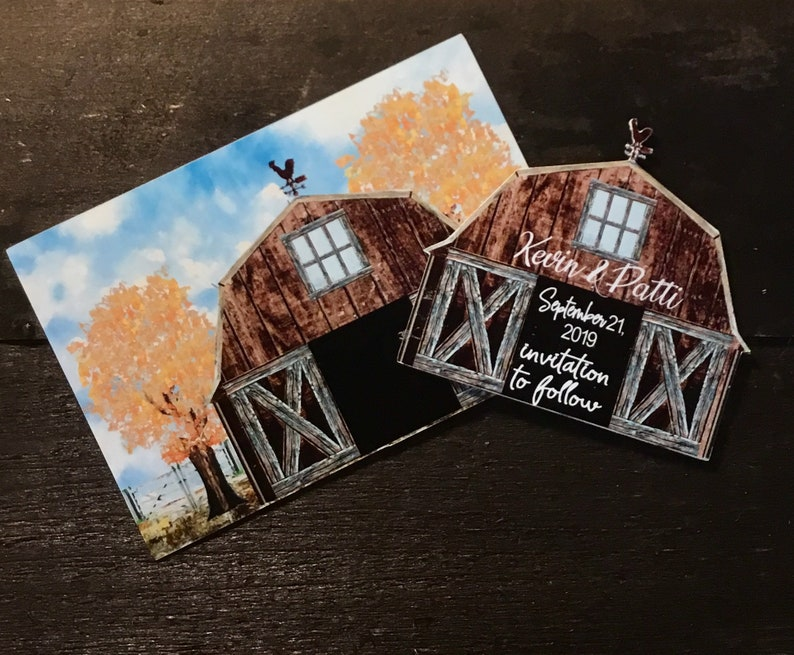 save the date magnet Rustic farm save the date country save the date magnet