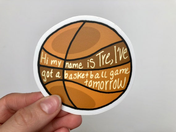 Vine Sticker Waterproof Hi My Name Is Tre Basketball Game Vine Sticker For Laptops Cars Water Bottles Stickers Vine Sticker Pack