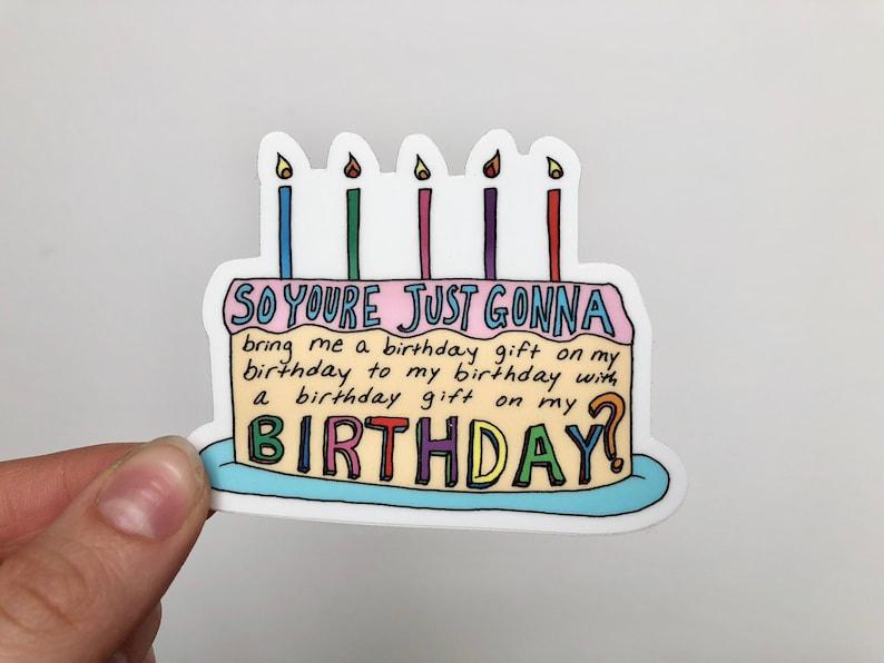 Vine Sticker Happy Birthday Stickers By Rose Soma