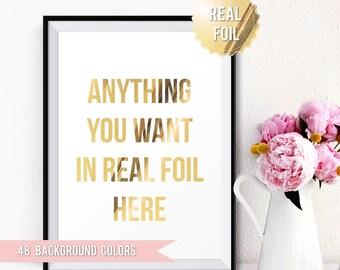 Custom Foil Print - Custom Gold Foil Print Personalized Gold Foil Print - Personalized Gift - Custom Foil Design Art - Custom Gift