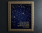 Inspirational Wall Art EE Cummings Quotes Poem Print E. E. Cummings Poetry Typewriter Trust Your Heart Real Gold Foil Book Lover Gift