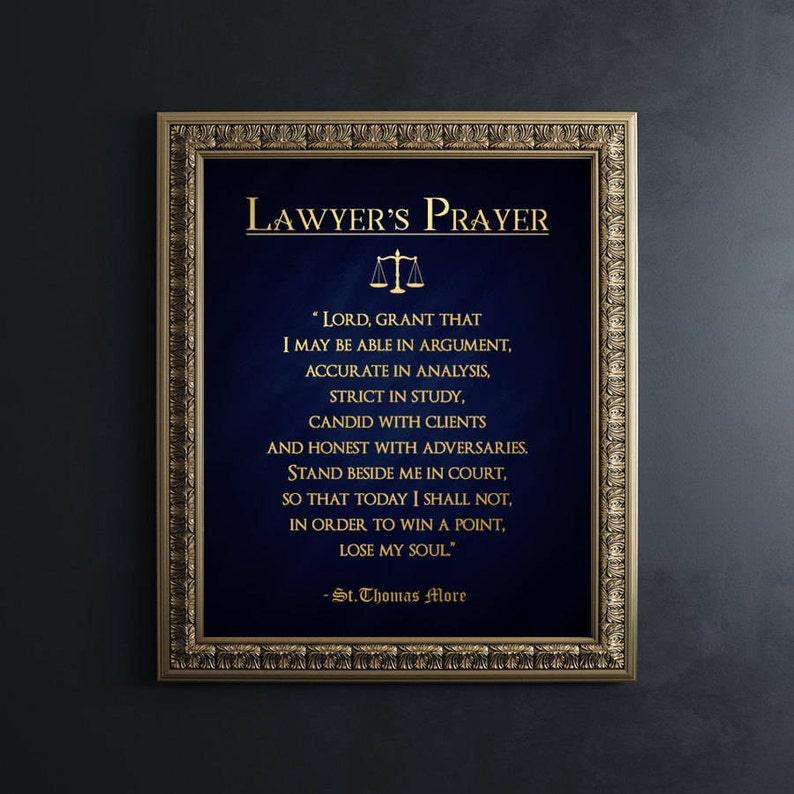 Lawyer Gift  Gifts for Lawyers  Real Gold Foil Print  image 0