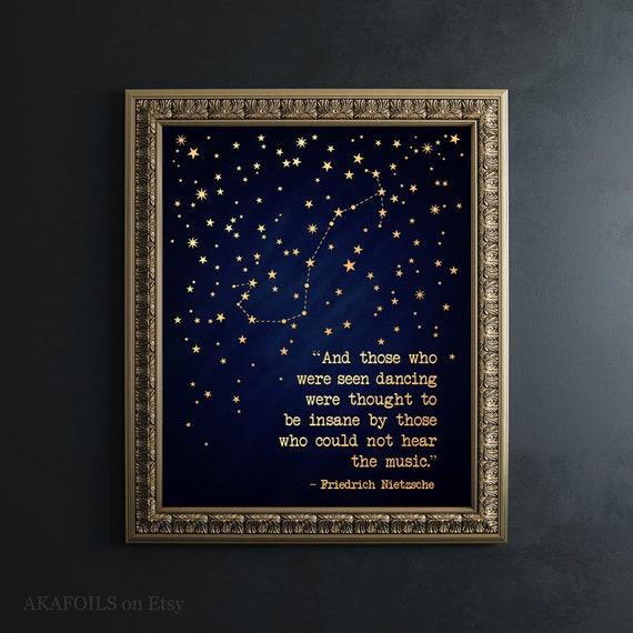 Scorpio Zodiac Birthday Gift for Him - Scorpio Gift - Gold Scorpio  Constellation - Nietzsche Quote Print - November Birthday Gift for Men