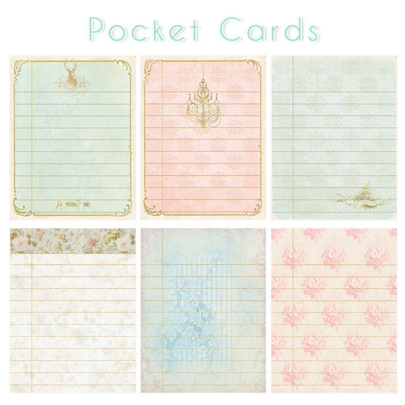 graphic about Free Printable Journal Cards identify Printable Junk magazine playing cards, Printable Journaling playing cards, 3x4 pocket playing cards for Sbooking planner inserts, Basic paper magazine package