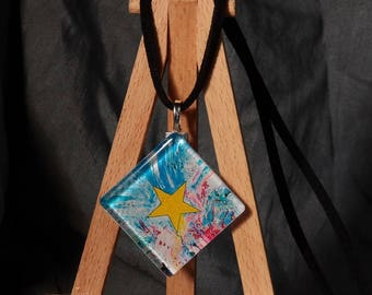 MY star / pendant original painting