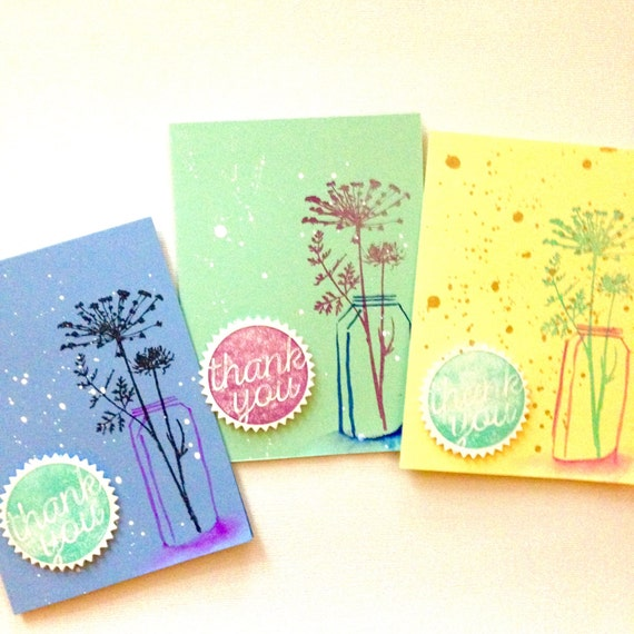 artisan cus thinking of you handcrafted card Handmade Simple Home Collection - love via paper card original art card