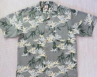 600ecefd2 TOMMY BAHAMA Shirt Hawaiian Aloha Shirt Tropical Jungle Bamboo Forest Print  Resort Wear 100% Silk Mens Camp - L - Oahu Lew's Shirt Shack