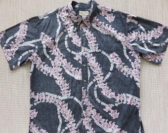L Oahu Lew/'s Shirt Shack Hawaiian Shirt Batik Shirt SRI BATIK Vintage Ethnic Hipster Boho Hippie Tropical Bohemian 100/% Cotton Camp Mens