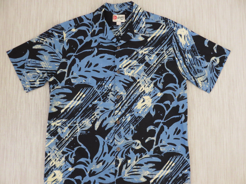 eb8c3137 Hawaiian Shirt Men HILO HATTIE Vintage Aloha Shirt Paintball | Etsy