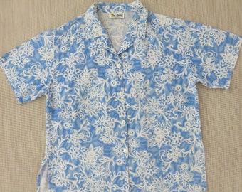 Vintage Hawaiian Shirt Laguna Beach CALIFORNIA Shirt TWO POTATO So Cal Tiki-licious Rockin' Party Shirt Mens - L - Oahu Lew's Shirt Shack