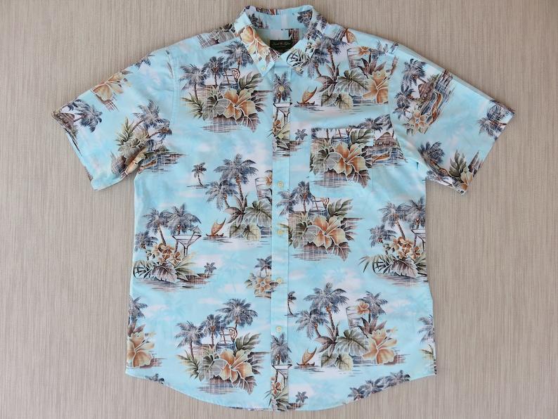 161bb01e5 Hawaiian Shirt DAVID TAYLOR Collection Cocktails Martini on | Etsy