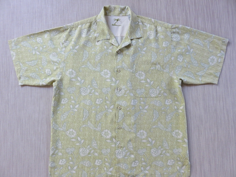 4bf56405a Silk Hawaiian Shirt KAHALA Aloha Shirt Tropical Paradise | Etsy