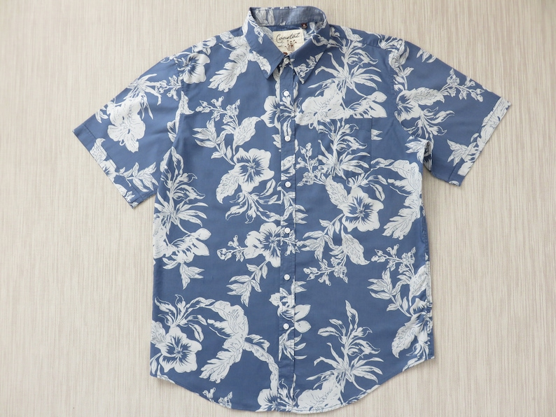 c701d9fe Hawaiian Shirt COASTAL California Surfer Shirt Floral Print | Etsy