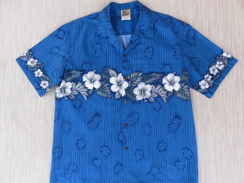 e942be7a Vintage Hawaiian Shirt WINNIE FASHION Hibiscus Aloha Shirt | Etsy