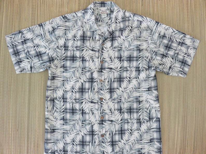 be4d5648c TOMMY BAHAMA Shirt Hawaiian Shirt Men Tropical Palm Print on | Etsy