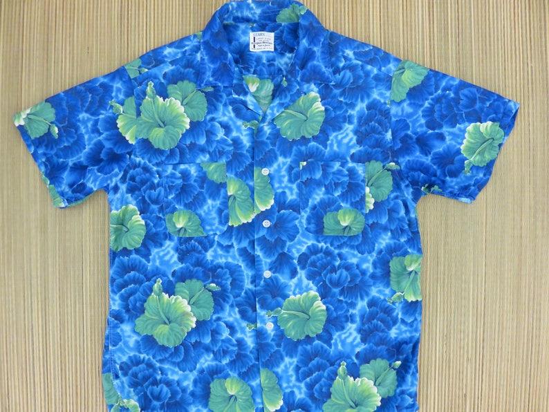 935f6c03376d 50s Vintage Hawaiian Shirt SEARS Everglaze Minicare Made in | Etsy