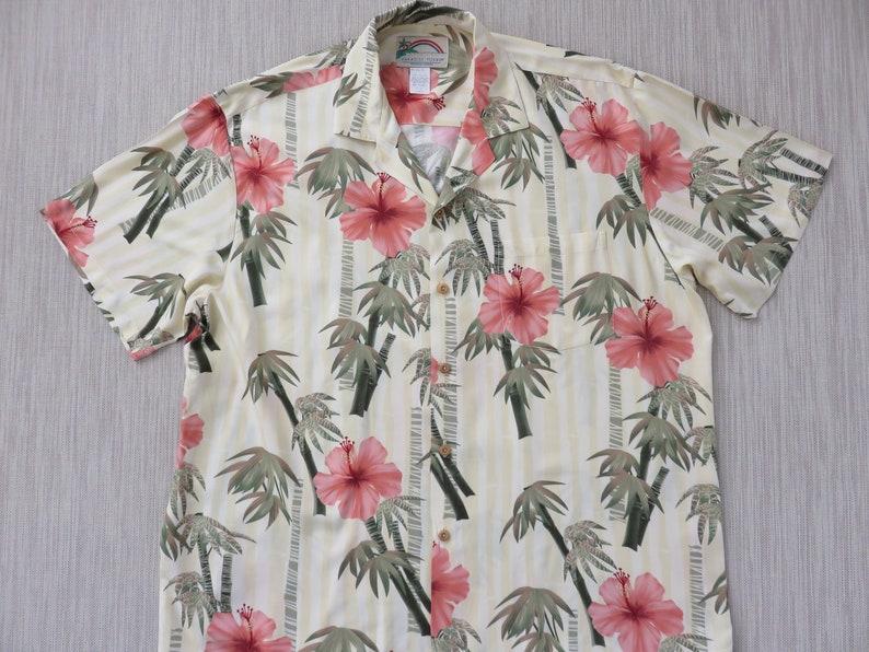 73fc17f5 Mens Hawaiian Shirt PARADISE FOUND Hip Bamboo Hibiscus Flower | Etsy