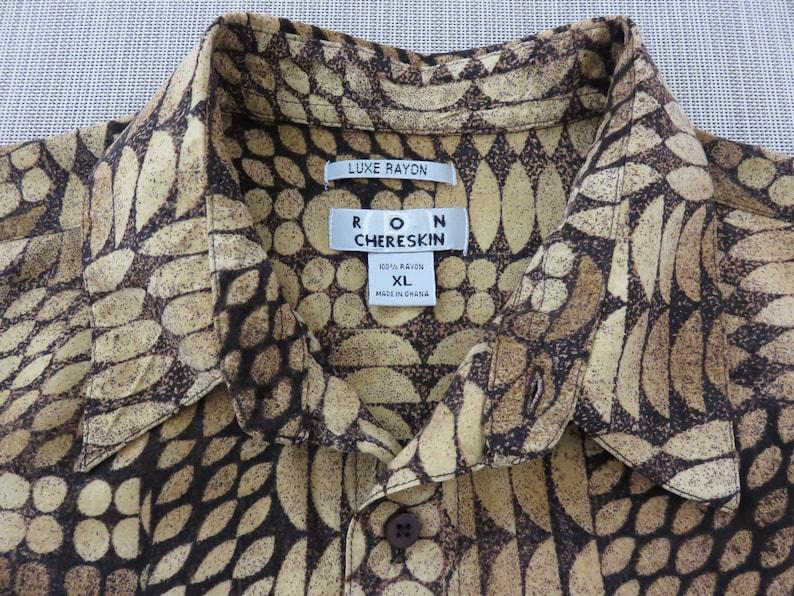 86b01cda Hawaiian Shirt RON CHERESKIN Designer African-Inspired Aloha | Etsy